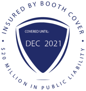 Booth Cover Photo Booth Insurance Badge